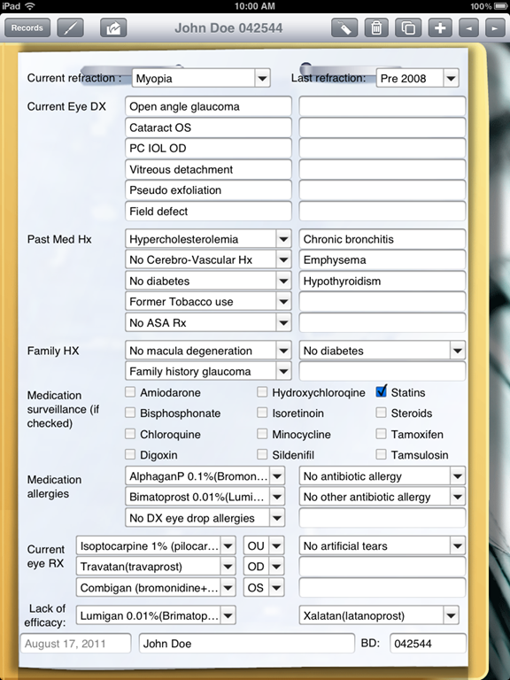 types of medical records pdf