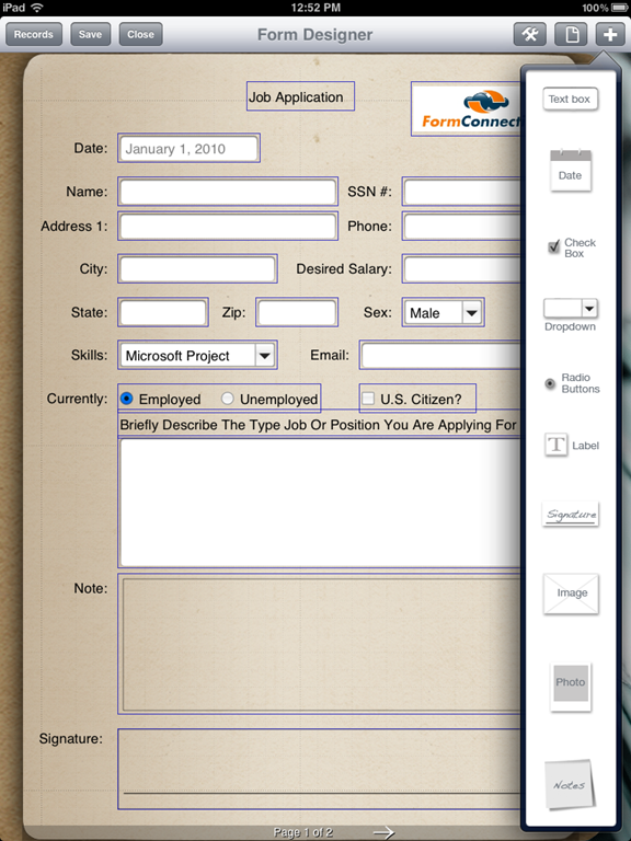 Customize your iPad with a Data Entry Form | Form Connections