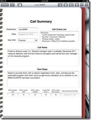 sales call report forms - Template
