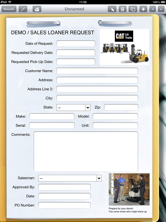 Lift Truck Dealer Uses Ipad To Fill Out Sales Loaner